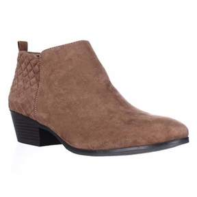 Style&Co. Sc35 Wessley Semi-quilted Short Booties, Maple.