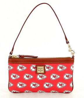 Dooney & Bourke NFL Collection Kansas City Chiefs Large Slim Wristlet - RED - STYLE
