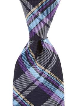 Roundtree & Yorke Jewel Plaid Traditional 3 1/8#double; Silk Tie