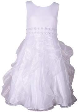 Bonnie Jean Girls 7-16 Organza Cascading Skirt Dress