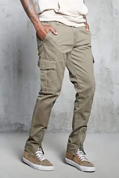 21men 21 MEN Zipper Ankle Cargo Pants