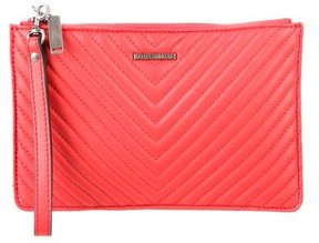 Rebecca Minkoff Quilted Leather Clutch - RED - STYLE