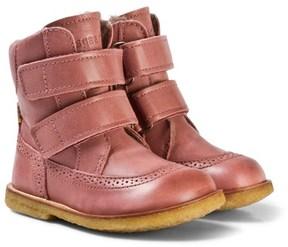 Bisgaard Pink Velcro Boots