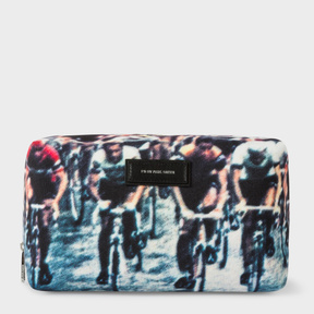 Paul Smith Men's 'Cycling' Print Wash Bag