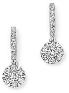 Bloomingdale's Diamond Cluster Drop Earrings in 14K White Gold, .55 ct. t.w.