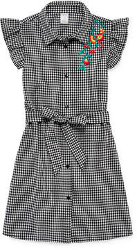 Arizona Sleeveless Gingham A-Line Dress Girls