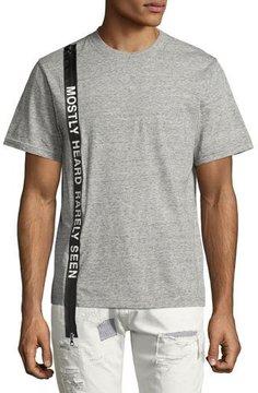 Mostly Heard Rarely Seen Logo Banner T-Shirt, Light Gray