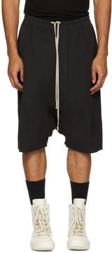 Rick Owens Black Water-Repellent Pods Shorts
