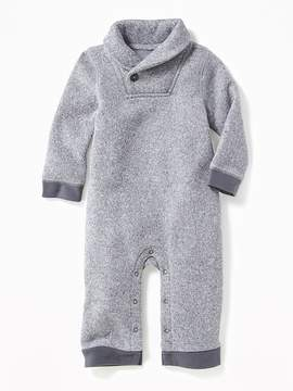 Old Navy Shawl-Collar Sweater-Knit Fleece One-Piece for Baby