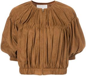 ESTNATION cropped gathered jacket