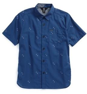 Volcom Boy's Floyd Geo Pattern Woven Shirt
