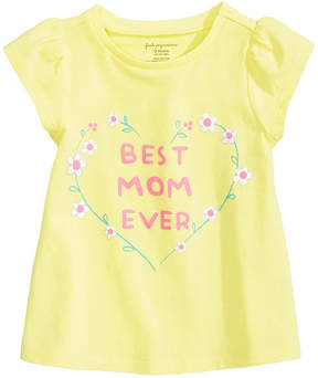 First Impressions Best Mom Ever Cotton T-Shirt, Baby Girls, Created for Macy's