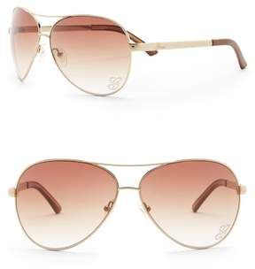 GUESS 62mm Aviator Sunglasses