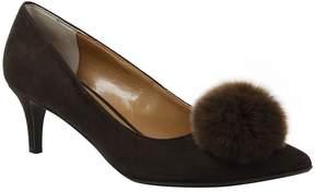 J. Renee Elisabet Rabbit Fur Pom Pom Pumps