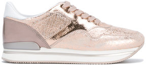 Hogan flecked lace-up sneakers
