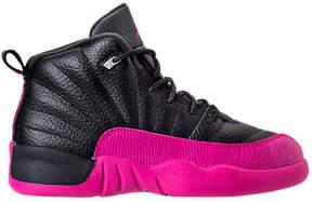 Nike Girls' Preschool Jordan Retro 12 Basketball Shoes
