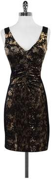 Alberto Makali Black Snakeskin Print Bodycon Dress