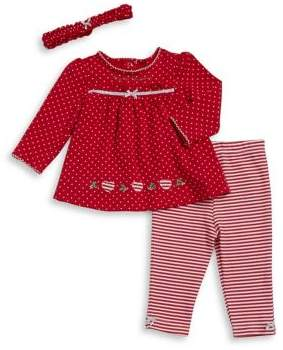 Little Me Baby Girl's Two-Piece Cotton Tunic, Leggings and Headband Set