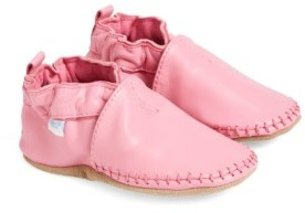 Robeez Infant Girl's 'Classic Moccasin' Crib Shoe