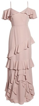 WAYF Women's Danielle Off The Shoulder Tiered Crepe Dress