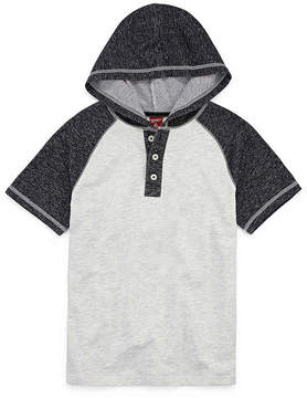 Arizona Short Sleeve Henley Shirt - Big Kid Boys