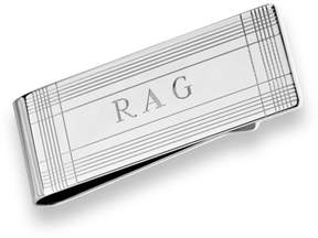 Zales Men's Engraved Money Clip in Sterling Silver (3 Initials)
