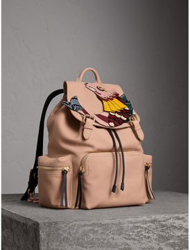 Burberry The Large Rucksack in Deerskin with Beasts Motif