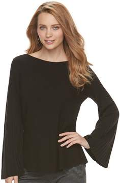 Elle Women's Ribbed Boatneck Sweater