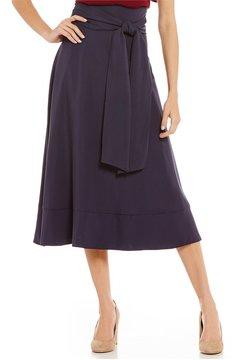 Daniel Cremieux Mina Tie Waist Flare Midi Skirt