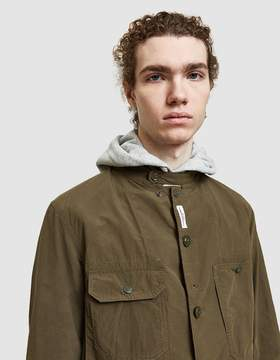 Engineered Garments Logger Jacket in Olive Wax
