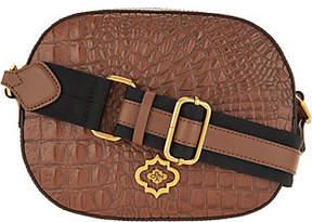 Oryany Embossed Leather Crossbody -Paisley