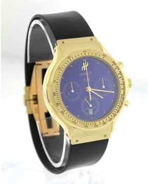 Hublot MDM 1621.3 18K Yellow Gold Blue Chronograph Dial 36mm Watch