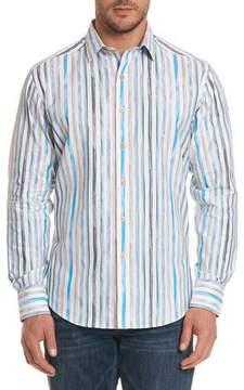 Robert Graham Murals Striped Sport Shirt
