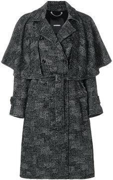 Diesel W-Jadew patchwork coat