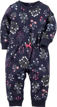 Carter's Baby Girls Toddlers Bodysuit Floral Print Blue