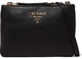 Prada - Textured-leather Shoulder Bag - Black