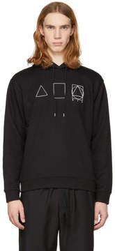 McQ Black Glyph Icons Clean Hoodie