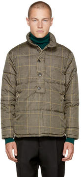 Cmmn Swdn Beige Check Kai Puffer Jacket