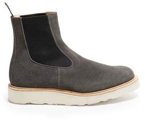 Tricker's + Todd Snyder Exclusive Winter Smoke Suede Chelsea Boot