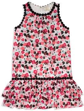 Kate Spade Girls' Blooming Floral Drop-Waist Dress - Big Kid