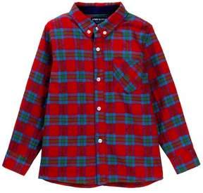Andy & Evan Plaid Flannel Shirt (Toddler & Little Boys)