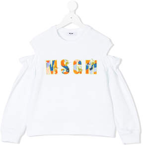 MSGM shoulder cut-out sweatshirt