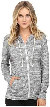 Alternative Eco Jersey Space Dye Cool Down Hoodie Women's Sweatshirt