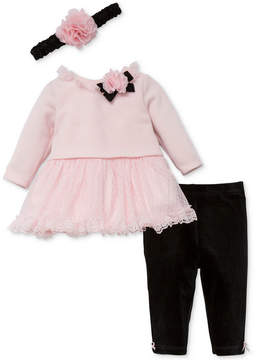 Little Me 3-Pc. Headband, Sweater Dress & Leggings Set, Baby Girls (0-24 months)