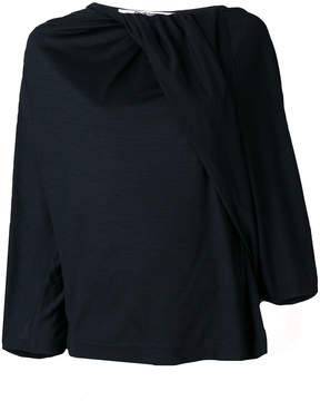 Chalayan twisted neckline blouse