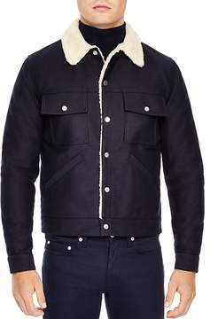 Sandro Faux Shearling Jacket