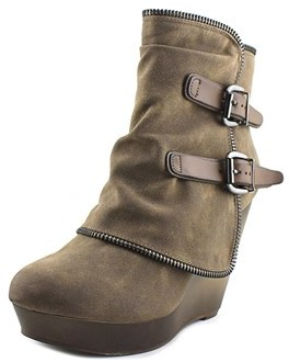 Not Rated Gemini Women Round Toe Synthetic Tan Bootie.