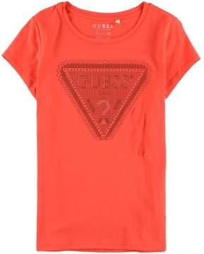 GUESS Womens Studded Graphic T-Shirt Orange XL
