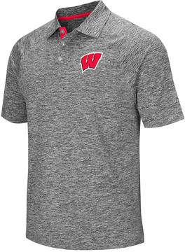 Colosseum Men's Campus Heritage Wisconsin Badgers Slubbed Polo