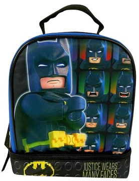 Lego Batman 9.5 Dual Compartment Lunch Bag with Cape